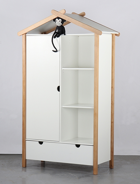 Alouette Wardrobe with 1 Door and 1 Drawer